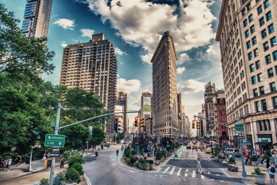 New York City's Flatiron building, from which the Flatiron School derives its name.