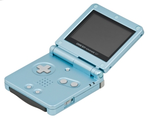 The Game Boy Advance SP.