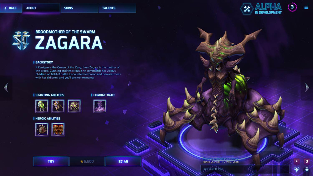 A picture of Zagara, and insect-like Zerg character from Starcraft II.