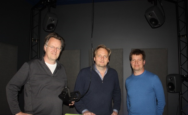 Arthur van Hoff, Jens Christensen, and Tom Annau of Jaunt.