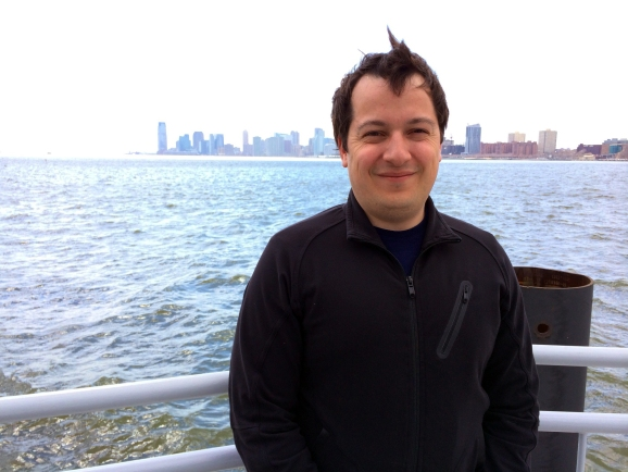 Joel Horwitz, director of products and marketing at Alpine, at New York's Chelsea Piers.