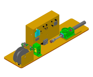 Hugh Lyman's plastic extruder design is the basis for the Legacy 3D filament machine.
