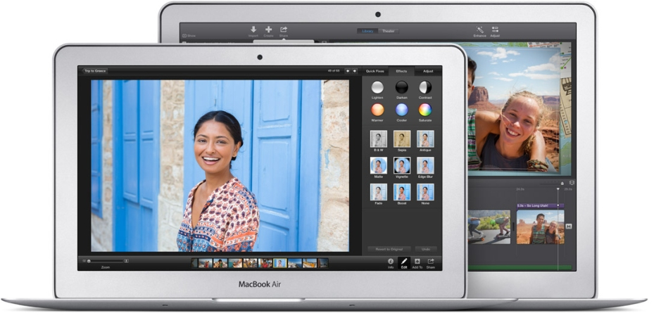 The 11- and 13-inch MacBook Air models.
