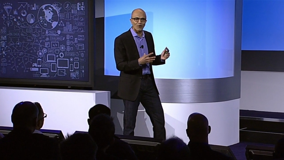 Microsoft CEO Satya Nadella unveils the company's latest big data offerings.