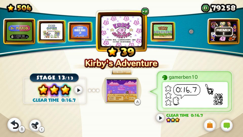 I like Kirby's Adventure, but if you don't, then you might have big issues NES Remix 2.