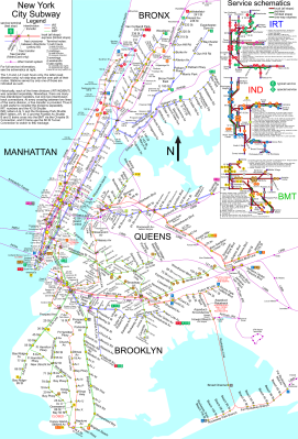 "The NYC Subway map looks ""like a bit of a mess,"" according to Johnston."