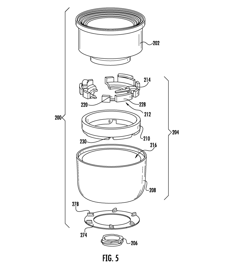 A drawing from Apple's patent
