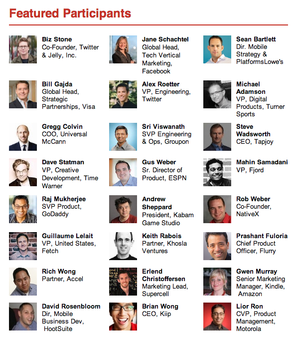 Mobile Summit Featured Participants