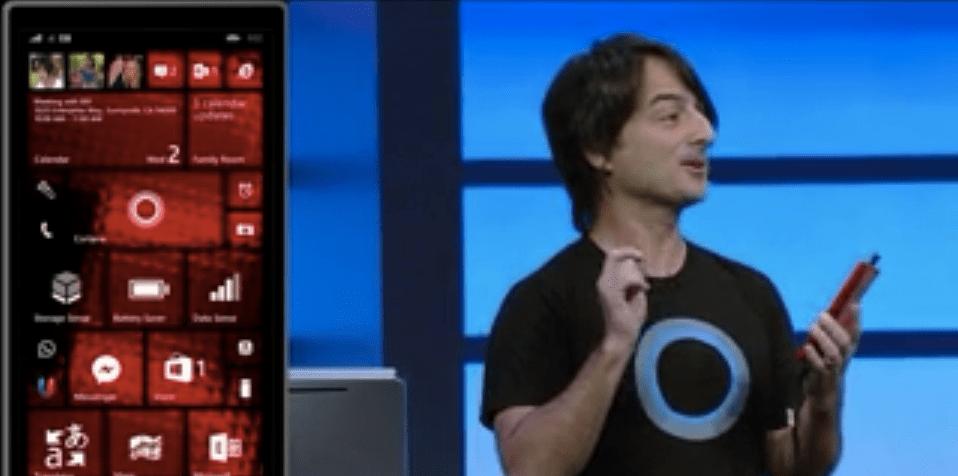 Windows Phone Cortana screen shot