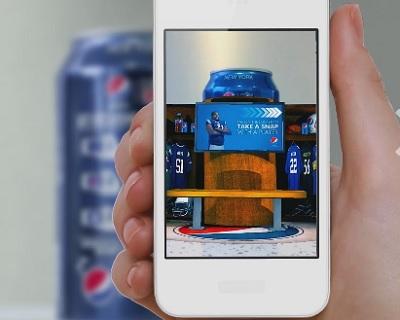 Blippar on Pepsi can