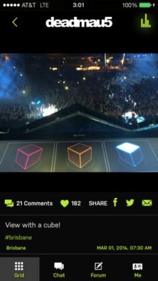 The new iOS app from music artist deadmau5.