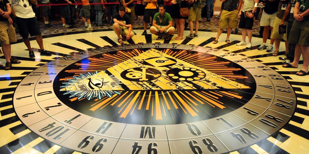 An art installation at DefCon 19 in Las Vegas.
