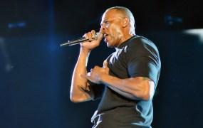 Dr. Dre performs at Coachella 2012.