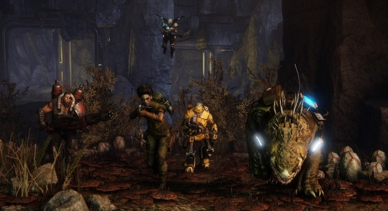 Evolve hunters, with Daisy on the right.