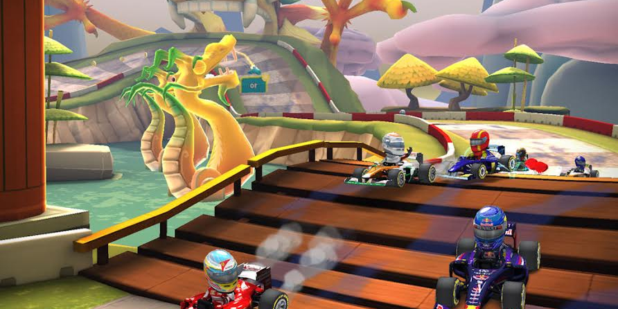 F1 Race Stars puts Formula 1 cars in a colorful world of iOS racing.
