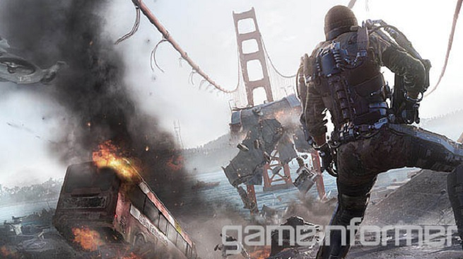 Game Informer cover image of Call of Duty: Advanced Warfare.