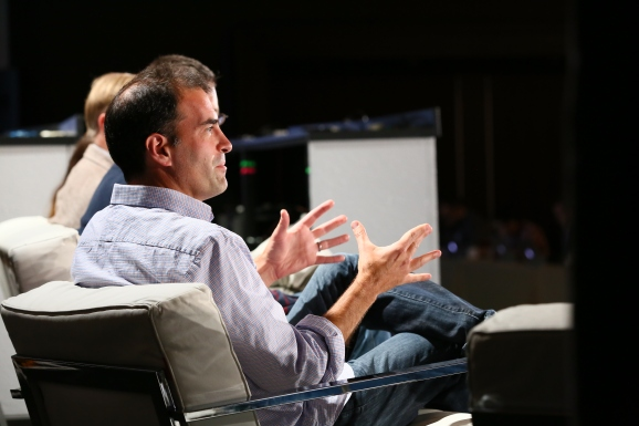 Joe Adler, Interana's director of product management, on-stage at VentureBeat's DataBeat conference Monday.