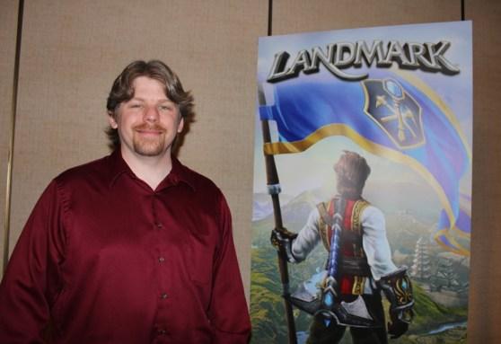 Terry Michaels, game designer for Landmark