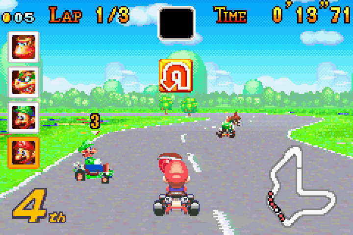 It looks crude now, but having Mario Kart on a portable was a big deal.