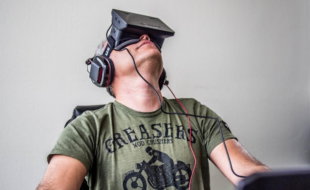 The Oculus Rift headset.