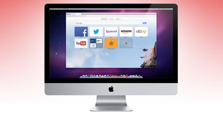 Opera on a Mac.