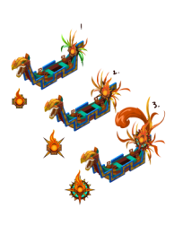 The progression of ship designs.