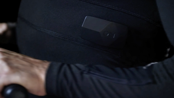 OMsignal's sensor box, which can be moved from shirt to shirt