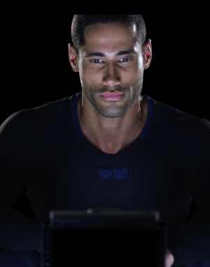 The OMsignal long-sleeved t-shirt. Buff body not included.