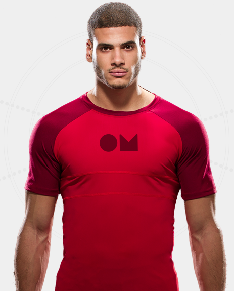 Omsignal unveils 39 biometric smartwear 39 t shirts for for Buff dudes t shirt