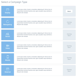 Creating new campaigns