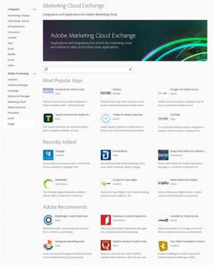 Adobe's new  Marketing Cloud Exchange