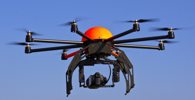 An octocopter for video and photo capture