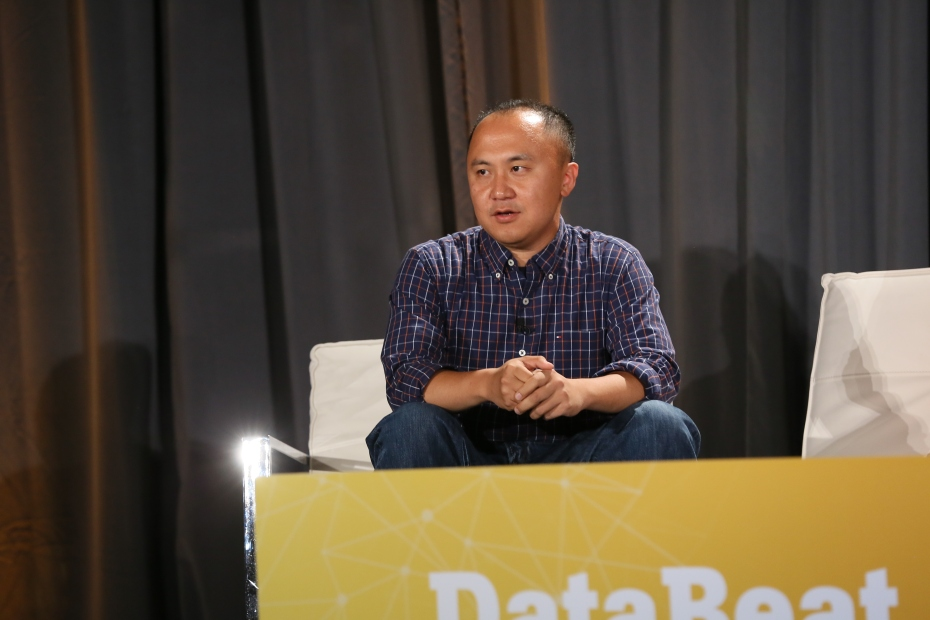 Simon Zhang, senior director of business analytics at LinkedIn, on-stage at VentureBeat's DataBeat conference Monday.