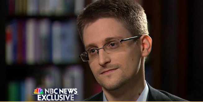 Edward Snowden speaking on NBC on May 28, 2014.