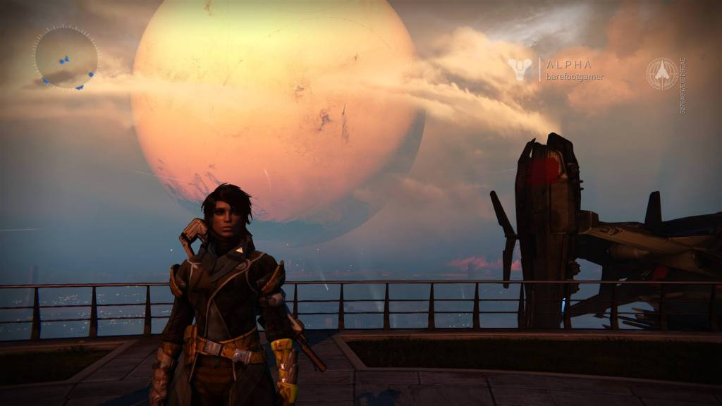A screenshot from the First Look Alpha of Destiny.