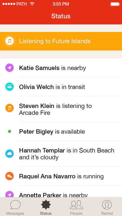 Talk's Ambient Status feature
