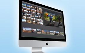 An iMac desktop computer.