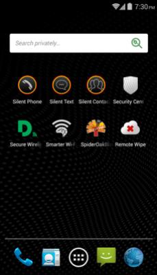 Blackphone interface