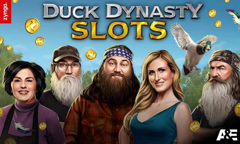 """The Roberts clan from """"Duck Dynasty,"""" in social-casino game form."""