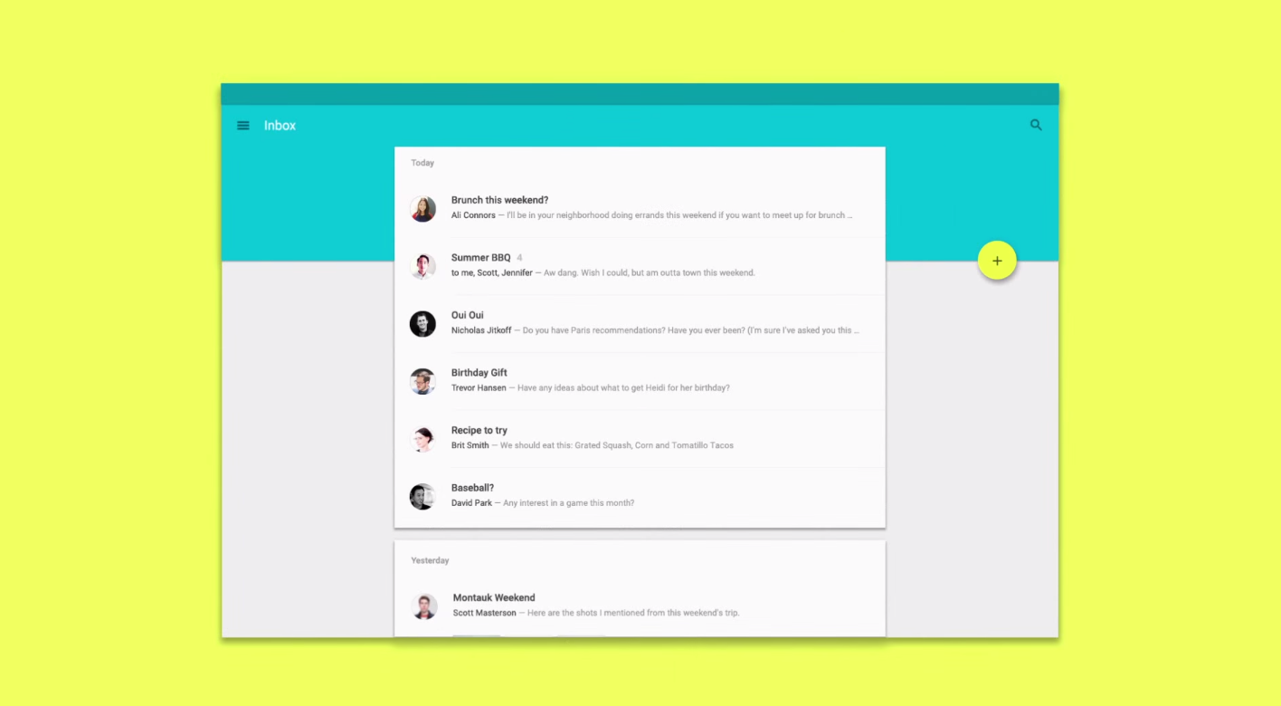 Top designers react to google s new material design for Material design table