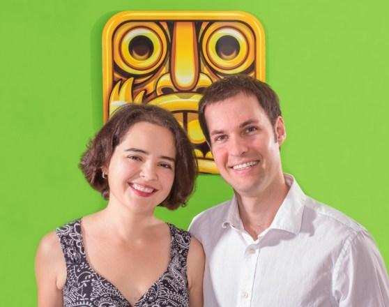 Natalia Luckyanova and Keith Shepherd of Imangi Studios, creators of Temple Run.