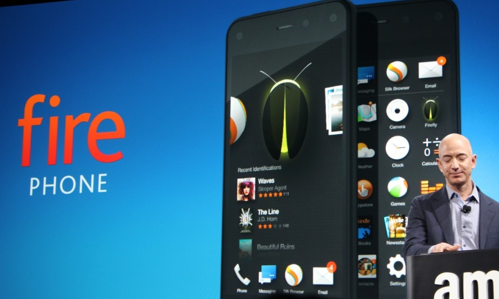 Amazon CEO Jeff Bezos introduces the Fire Phone.