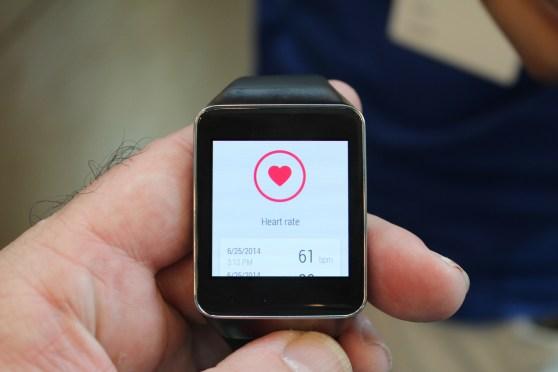 Samsung Gear Live heart monitor