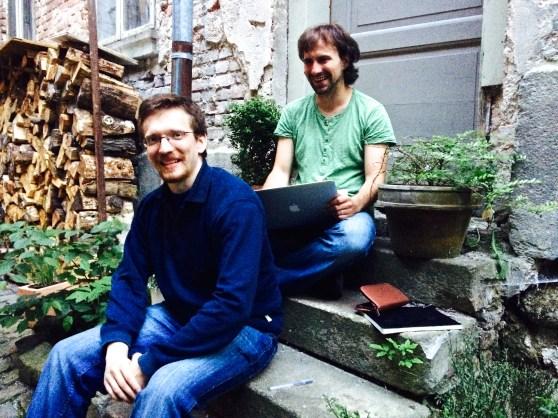 Dingo CTO Martin Wenisch and developer Jura Ibl