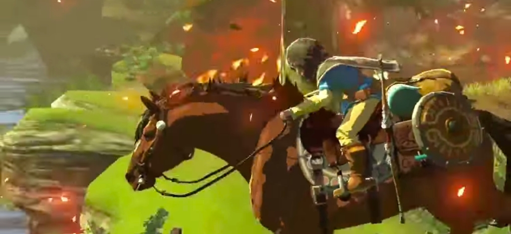 Link and Epona -- The Legend of Zelda Wii U