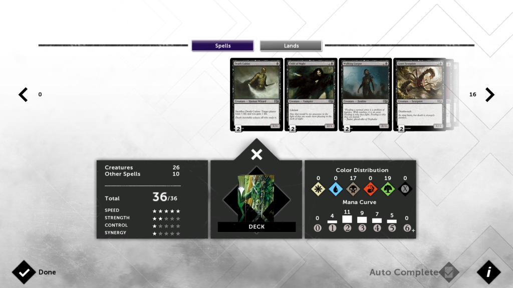 Magic 2015's deck builder is as complicated or automatic as you want.