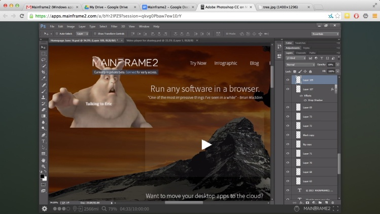 Mainframe2 can run Windows apps like Photoshop in the cloud.