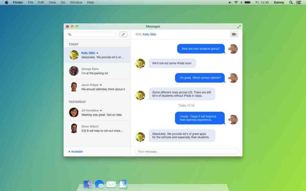 Unofficial Mac OS X 10.10 design concept