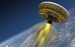 """A rendering of NASA's """"flying saucer"""" craft."""