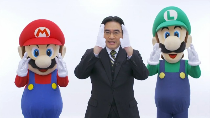 Nintendo president Satoru Iwata during one of his Nintendo Direct video events.